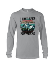I HAVE BEEN SOCIAL DISTANCING FOR YEARS HIKING Long Sleeve Tee thumbnail