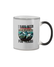 I HAVE BEEN SOCIAL DISTANCING FOR YEARS HIKING Color Changing Mug thumbnail