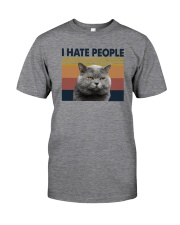I HATE PEOPLE CAT Classic T-Shirt front