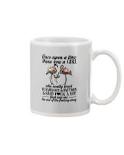 A GIRL LOVED FLAMINGOS AND TATTOOS Mug thumbnail