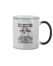 A GIRL LOVED FLAMINGOS AND TATTOOS Color Changing Mug thumbnail