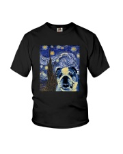 VAN GOGH BULLDOG Youth T-Shirt thumbnail