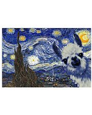 STARRY NIGHT LLAMA 24x16 Poster front