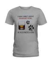 whiskey dog Ladies T-Shirt thumbnail