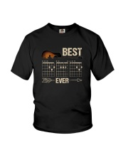 BEST GUITAR MUSIC NOTE DAD EVER 2 Youth T-Shirt thumbnail
