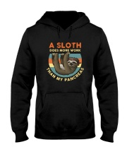 A SLOTH DOES MORE WORK THAN MY PANCREAS Hooded Sweatshirt thumbnail