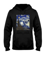van gogh cat Hooded Sweatshirt tile