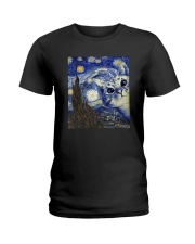 van gogh cat Ladies T-Shirt thumbnail