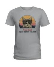 CAT DAD THE LEGEND Ladies T-Shirt thumbnail
