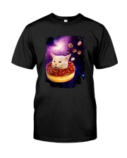 CAT MEME DONUT IN SPACE Classic T-Shirt front