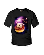 CAT MEME DONUT IN SPACE Youth T-Shirt thumbnail