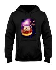 CAT MEME DONUT IN SPACE Hooded Sweatshirt thumbnail