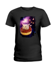 CAT MEME DONUT IN SPACE Ladies T-Shirt thumbnail