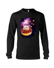 CAT MEME DONUT IN SPACE Long Sleeve Tee thumbnail