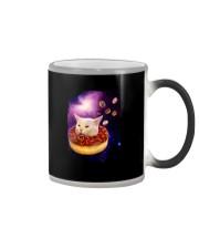 CAT MEME DONUT IN SPACE Color Changing Mug thumbnail