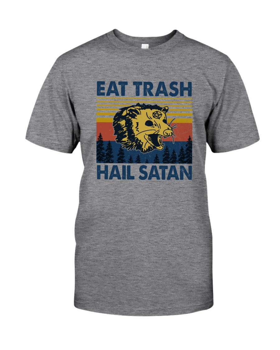 EAT TRASH HAIL SATAN RACCOON Classic T-Shirt