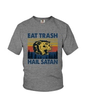 EAT TRASH HAIL SATAN RACCOON Youth T-Shirt thumbnail