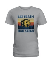EAT TRASH HAIL SATAN RACCOON Ladies T-Shirt thumbnail