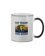 EAT TRASH HAIL SATAN RACCOON Color Changing Mug thumbnail