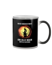 NEVER UNDERESTIMATE AN OLD MAN SAMURAI Color Changing Mug thumbnail