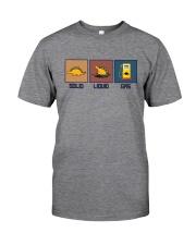 FUNNY DINOSAUR SOLID LIQUID GAS Classic T-Shirt front