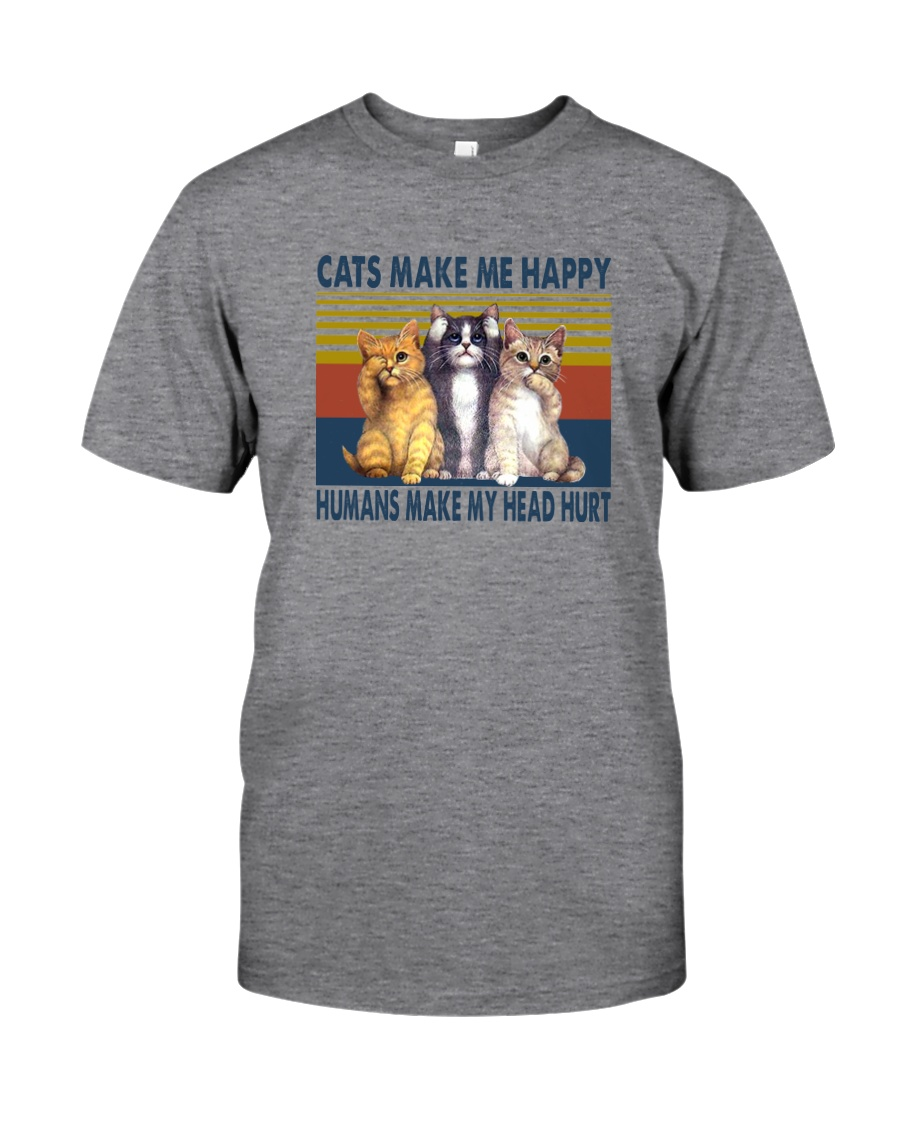 CATS MAKE ME HAPPY VINTAGE Classic T-Shirt