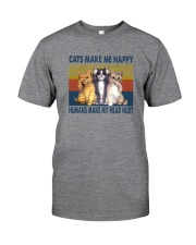 CATS MAKE ME HAPPY VINTAGE Classic T-Shirt front