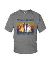 CATS MAKE ME HAPPY VINTAGE Youth T-Shirt tile