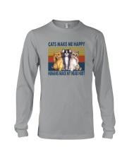 CATS MAKE ME HAPPY VINTAGE Long Sleeve Tee thumbnail