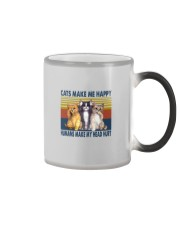 CATS MAKE ME HAPPY VINTAGE Color Changing Mug thumbnail
