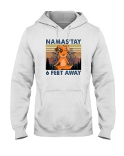 NAMASTAY 6 FEET AWAY DOG YOGA Hooded Sweatshirt thumbnail