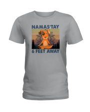NAMASTAY 6 FEET AWAY DOG YOGA Ladies T-Shirt thumbnail