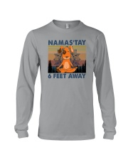 NAMASTAY 6 FEET AWAY DOG YOGA Long Sleeve Tee thumbnail