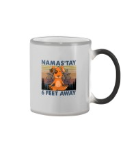 NAMASTAY 6 FEET AWAY DOG YOGA Color Changing Mug thumbnail