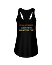 SOCIAL AN INTROVERT'S DREAM COME TRUE Ladies Flowy Tank thumbnail