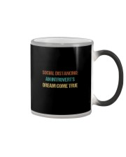 SOCIAL AN INTROVERT'S DREAM COME TRUE Color Changing Mug thumbnail