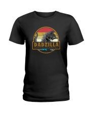 DADZILLA VINTAGE FATHER OF MONSTERS Ladies T-Shirt thumbnail