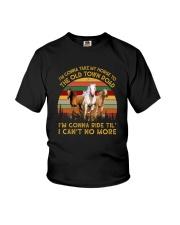 I'M GONNA RIDE TIL' I CAN'T NO MORE VINTAGE Youth T-Shirt thumbnail