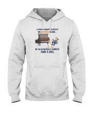 A MAN NEEDS BOURBON AND A SMOKER AND A DOG Hooded Sweatshirt thumbnail