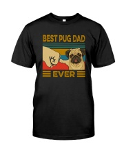 BEST PUG DAD EVER Classic T-Shirt front