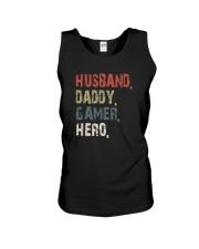 HUSBAND DADDY GAMER HERO Unisex Tank thumbnail