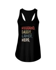 HUSBAND DADDY GAMER HERO Ladies Flowy Tank thumbnail