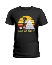 COME AND TAKE  IT dachshund Ladies T-Shirt thumbnail