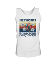 FIREWORKS DIRECTOR I RUN YOU RUN Unisex Tank tile