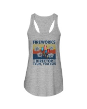 FIREWORKS DIRECTOR I RUN YOU RUN Ladies Flowy Tank thumbnail
