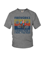 FIREWORKS DIRECTOR I RUN YOU RUN Youth T-Shirt tile