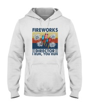 FIREWORKS DIRECTOR I RUN YOU RUN Hooded Sweatshirt tile