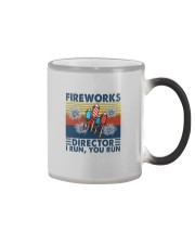 FIREWORKS DIRECTOR I RUN YOU RUN Color Changing Mug tile