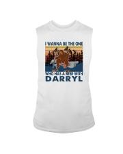 I WANNA BE THE ONE WHO HAS A BEER WITH DARRYL vt Sleeveless Tee thumbnail