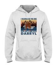 I WANNA BE THE ONE WHO HAS A BEER WITH DARRYL vt Hooded Sweatshirt thumbnail